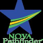 Nova-Pathfinder-blue-star-emblem-with-streak-of-whte-yellow-and-green-through-it